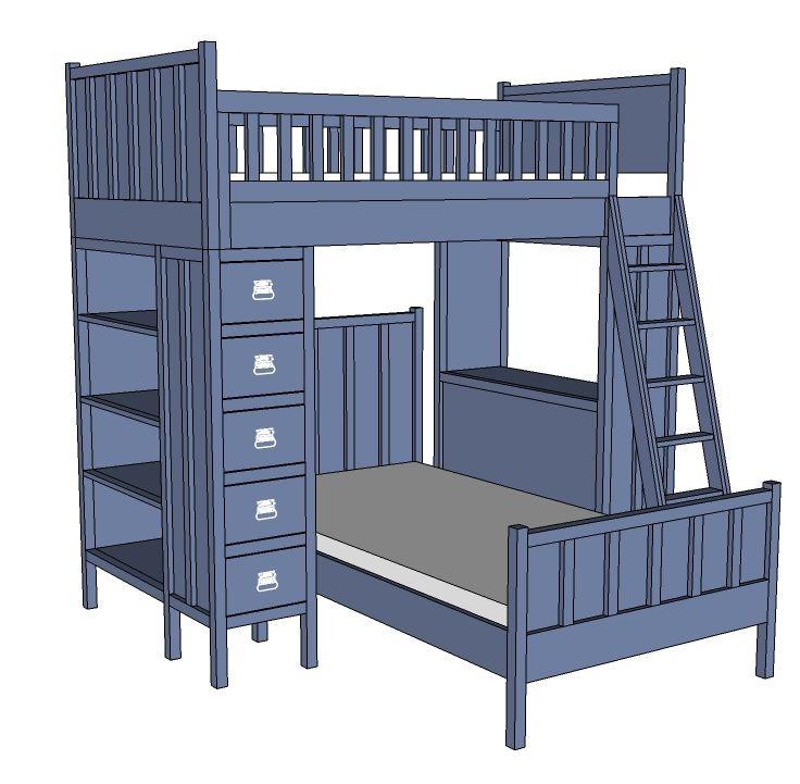 Best Top 70 Ideas About Bunk Bed Plans On Pinterest 400 x 300