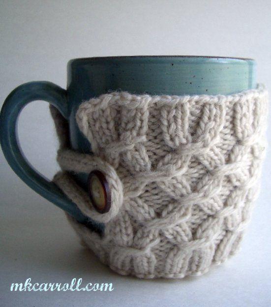 Craft Tutorial - Knitted Coffee Mug Holder