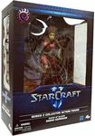 "Name: Kerrigan, Queen of Blades Manufacturer: DC Unlimited Series: Starcraft II Release Date: February 2012 For ages: 4 and up UPC: 761941295169 Details (Description): Kerrigan, Queen of Blades measures approximately 12"" high (including wings)."