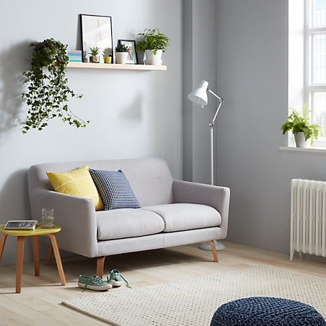Archie Small 2 Seater Sofa, Light Leg, Saga Grey