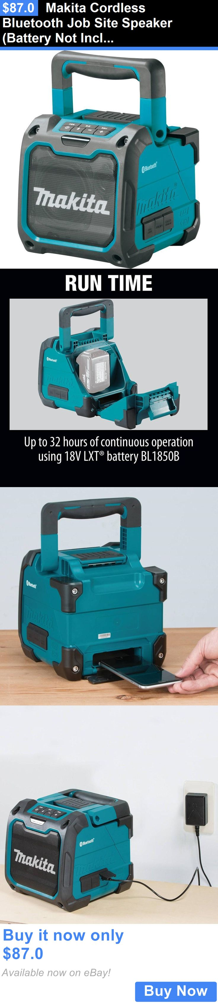 Portable AM FM Radios: Makita Cordless Bluetooth Job Site Speaker (Battery Not Included)   Xrm07 BUY IT NOW ONLY: $87.0