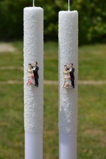 Lumanare de nunta zapada D46
