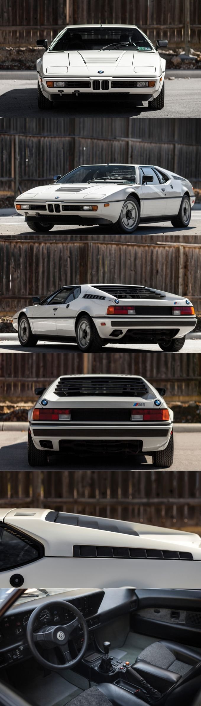 1978 BMW M1 / Giorgetto Giugiaro / 457 produced / 286hp M88 3.5l L6 / white / Germany / 17-384