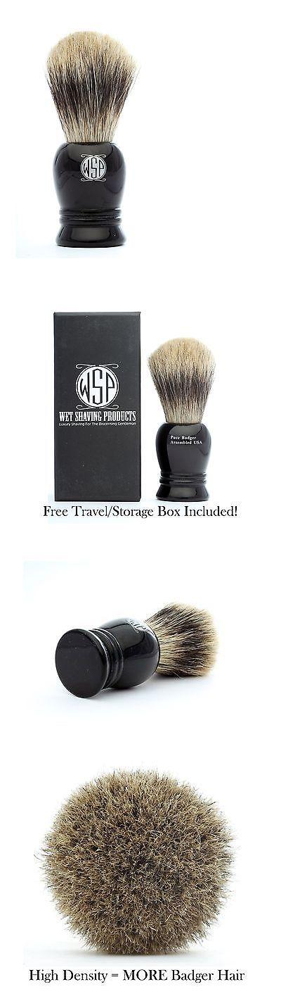 Shaving Brushes and Mugs: 100% Pure Badger Shaving Brush High Density Wsp Prince Black -> BUY IT NOW ONLY: $31.5 on eBay!