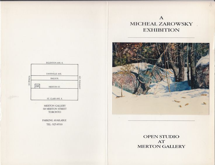 late winter paintings  - zarowsky at mertona gallery toronto 1990