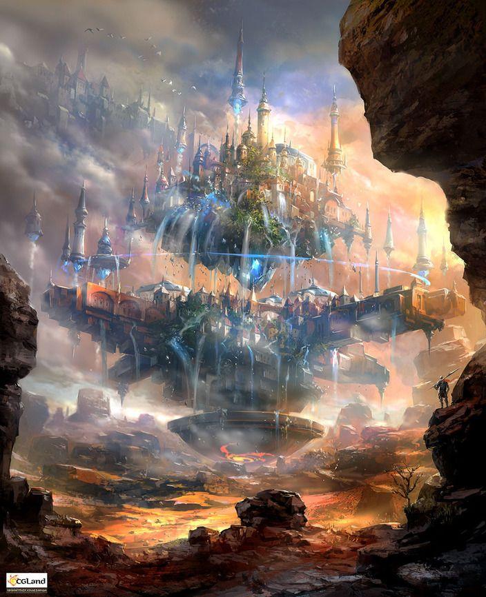 landscapes castles fantasy art - photo #24
