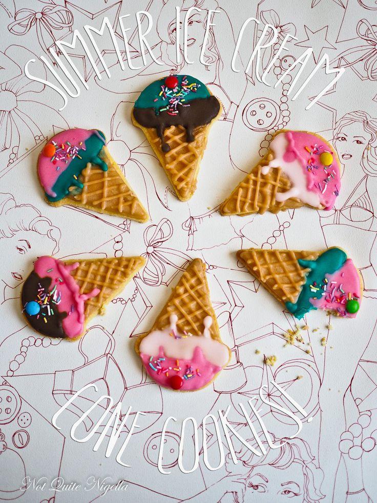 A Hot Summer's Night Ice Cream Cone Cookies