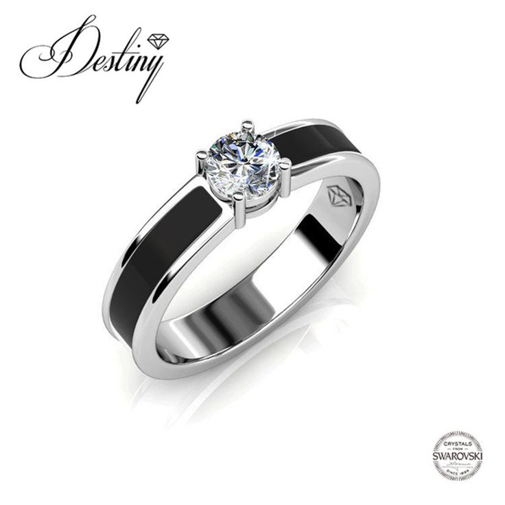 Судьба Ювелирные Изделия украшены кристаллами от Swarovski Кольца высокого качества кольца DR0317 купить на AliExpress