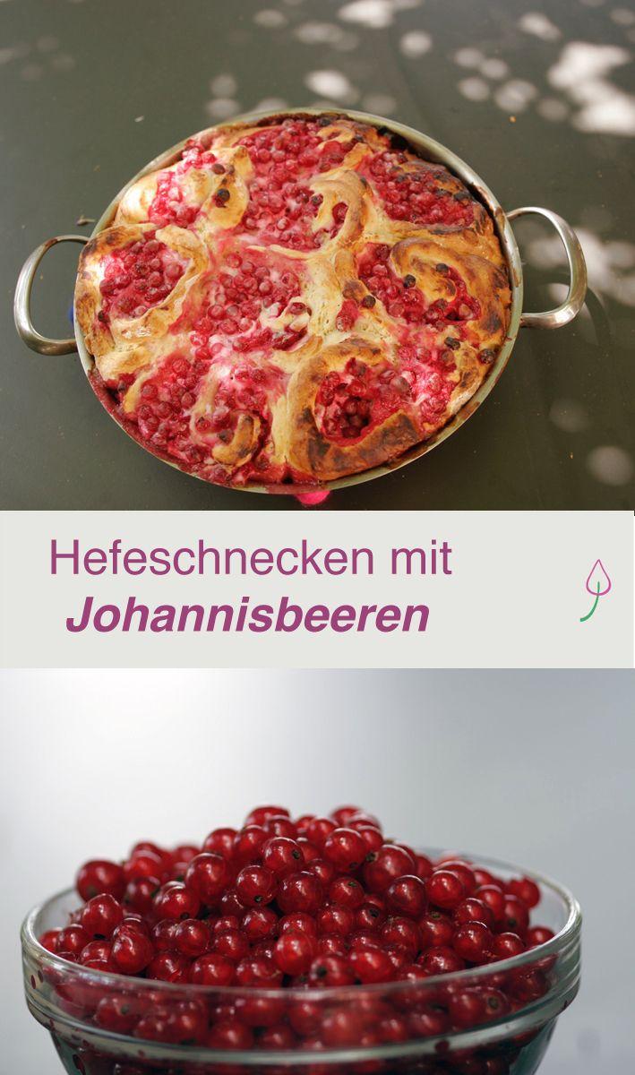 Rezept für Hefeschnecken mit Johannisbeeren für alle, die es nicht so süß mögen