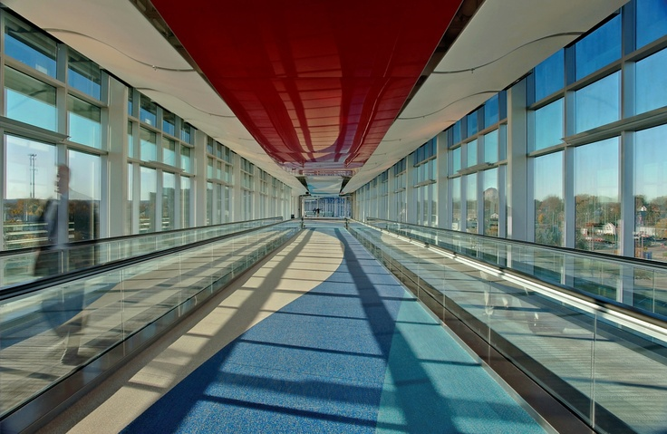 TF Green Airport, Providence, RI Reztec Rubber Flooring By Expanko Extremely Durable, High Acoustic performance, FloorScore Certified for low VOCs #expanko #reztec #rubberflooring #flooring #floorscore