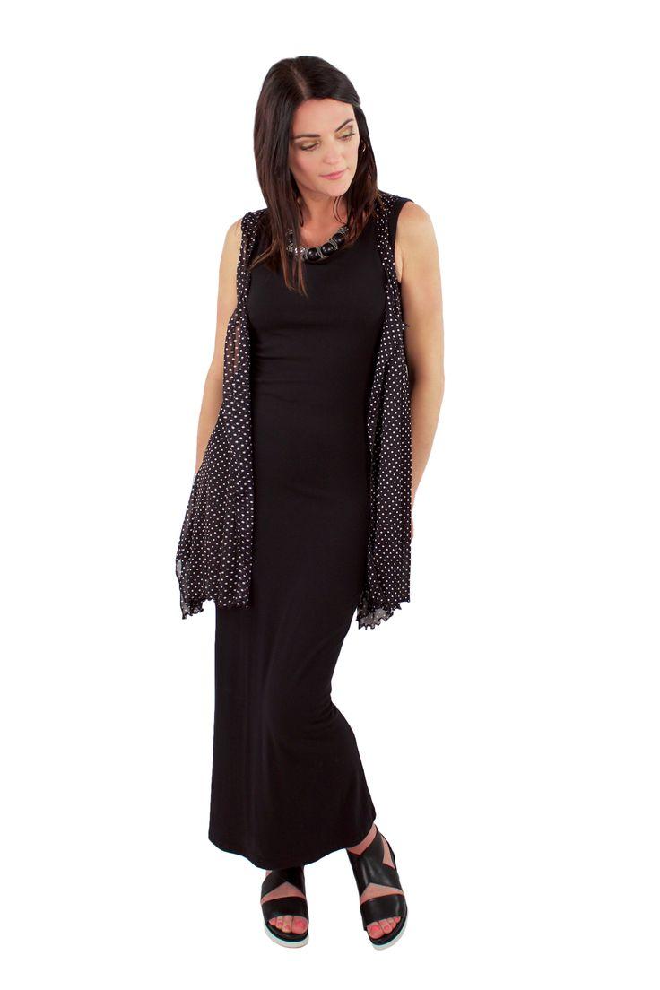 Lousje & Bean Dottie mesh vest & tank dress Spring/Summer 2017 Collection #lousjeandbean #tankdress #essentials #meshvest #polkadots #dots #spring2017