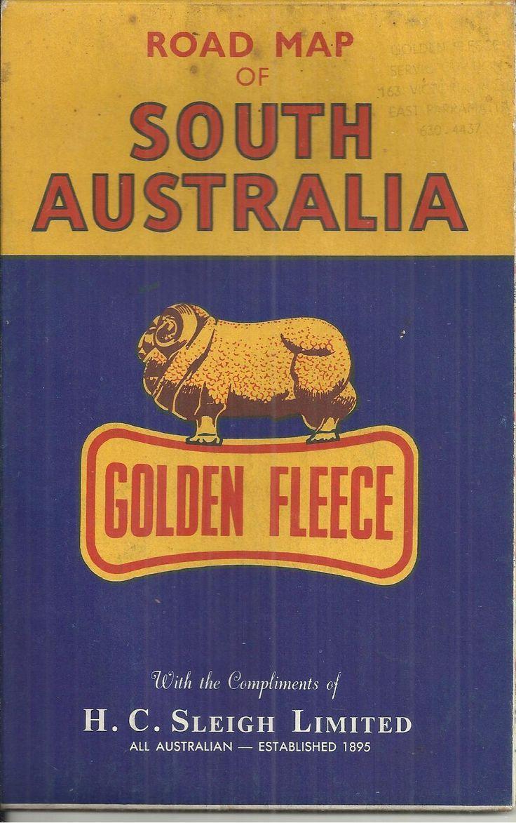 Golden Fleece service station road map of South Australia