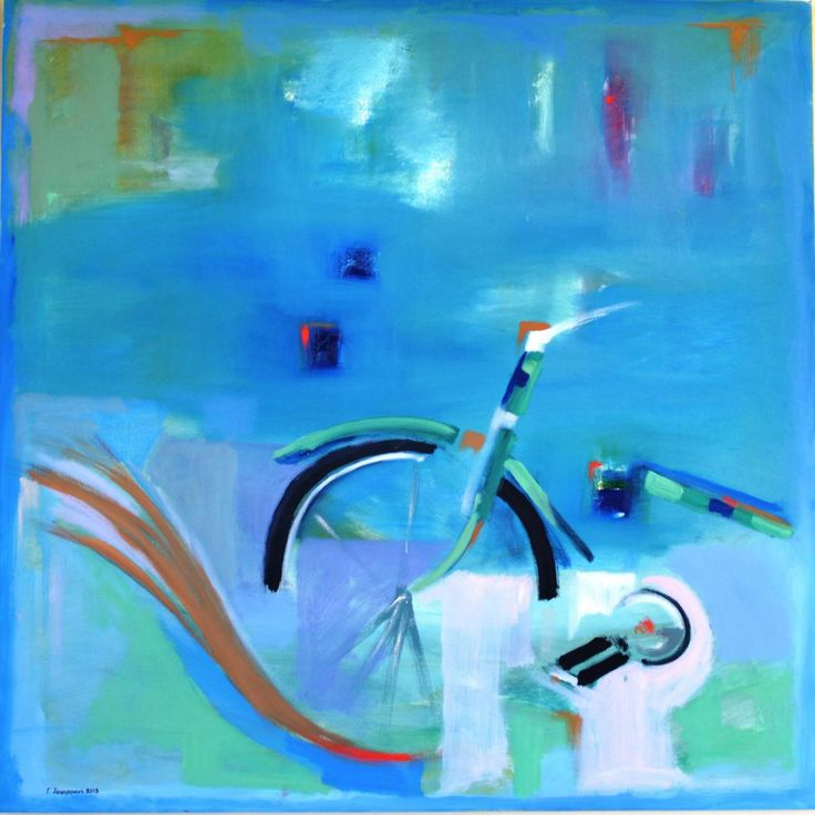 Giannis Zacharakis Άλμα (Jump) 2013  100Χ100 cm oil on canvas