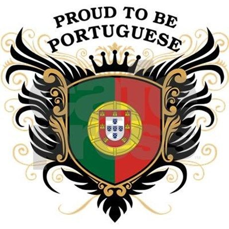 Cool crest design with national flag of Portugal colors and slogan: 'Proud to be Portuguese'. Great Portuguese pride gear.