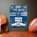 14.5 in. H x 11.5 in. D Heavy Duty Steel Indianapolis Colts Embossed Metal Sign Wall Art