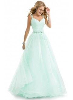 Lovely Sweetheart Tulle Beading Ball Gown Prom Dress