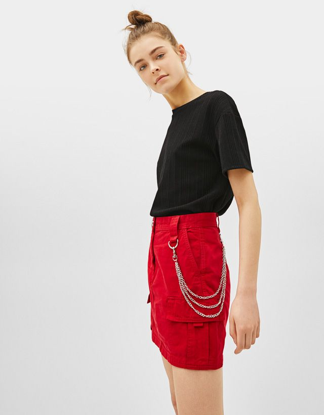 51a4d08c1 Skirts - COLLECTION - WOMEN - Bershka United States | clothing in ...