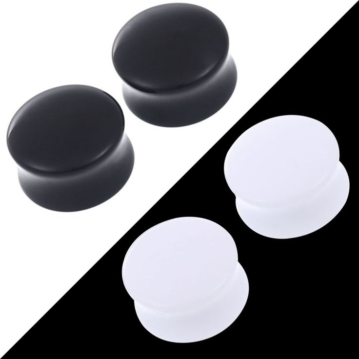 SWANJO Pair Saddle Acrylic Ear Plugs Tunnels Piercigns Plug Ear Stone Expanders Stretchers Earring Gauges for Women Body Jewelry