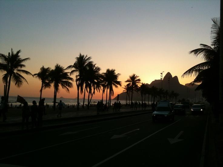 Ipanema, fim de tarde de verão.