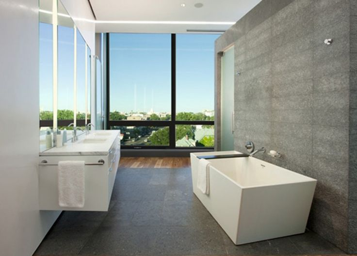 Best White Modern Bathrooms Images On Pinterest Modern