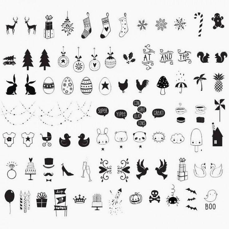 set de 85 dessins et symboles en plastique pour votre. Black Bedroom Furniture Sets. Home Design Ideas