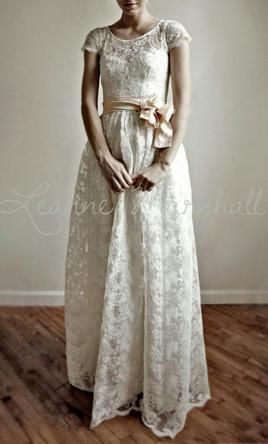 Leanne Marshall Ellie long 2 piece lace and cotton wedding dress wedding dress currently for sale at 63% off retail.