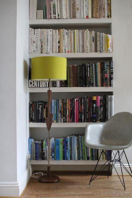 Design Bookcase with Thin Base Eiffel Chair