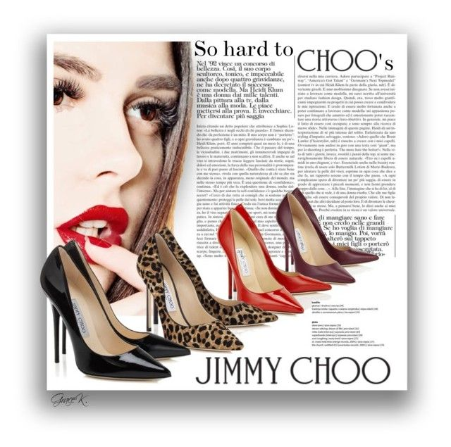 """Shoe Editorial"" by gracekathryn ❤ liked on Polyvore featuring Jimmy Choo, shoes, women, womensFashion and WomensShoes"