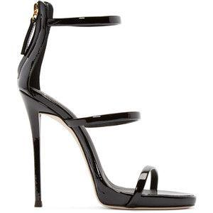 Giuseppe Zanotti Black Colline Heeled Sandals
