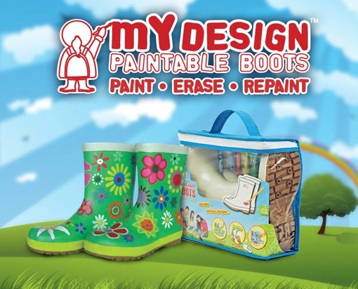 Γαλότσες, i love my design, paintable boots