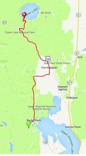The 47-mile trek between Rocky Point on Upper Klamath Lake and Crater Lake Lodge could become one of the next official Oregon scenic bikeways.Discover