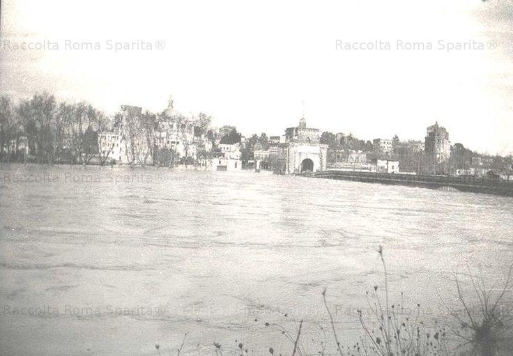 Piena del Tevere a Ponte Milvio Anno: 17 Dicembre 1937