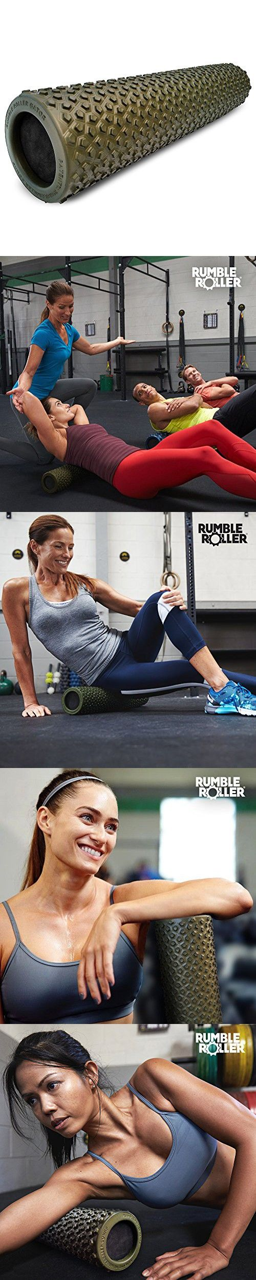 """RumbleRoller Gator - 22"""" Foam Roller - Foam Muscle Roller Optimized For Cross Frictional Massage – Patent Pending Back Roller- Reduces Sore Muscles   Relieve Back Muscle Pain"""