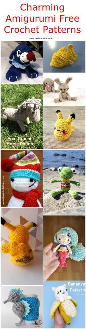 Charming Amigurumi Free Crochet Patterns | 1001 Crochet by 1001crochet
