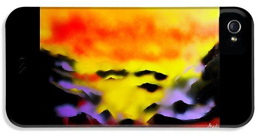 Land Of Heavens IPhone 5 / 5s Case Printed with Fine Art spray painting image Land Of Heavens by Nandor Molnar (When you visit the Shop, change the orientation, background color and image size as you wish)