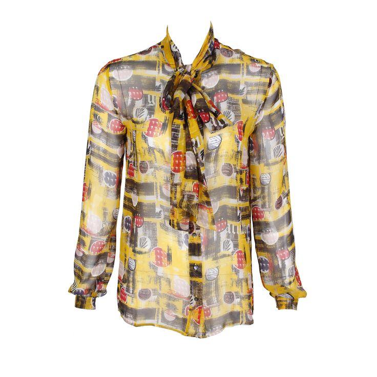 #galliano #johngalliano #marinamall #greenbird #couture #abudhabi #abudhabistyle #abudhabifashion #abudhabistyle #dubai #dubaifashion #dubaistyle #womenswear #fall2013 #winter2014 #fw2014 #prefall #blouse #buttonup #mixedprint