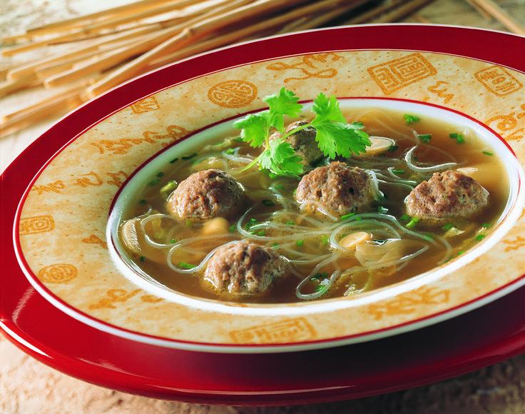 Soupe chinoise aux boulettes épicées - Fédération des producteurs d'oeufs du Québec