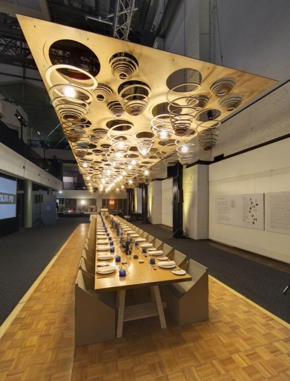 eat green design modern restaurant design - Beaded Inset Restaurant Interior