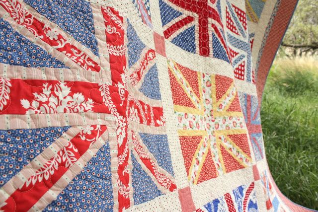 *Drum roll…* (By a guy in a tall, fuzzy, black hat) I am proud to finally present, after about 2.5 years under construction: The completed Union Jack Quilt. This quilt is probably my all-time favorite quilt I've ever made. I know I say that all the time, but I decided that if my house were …