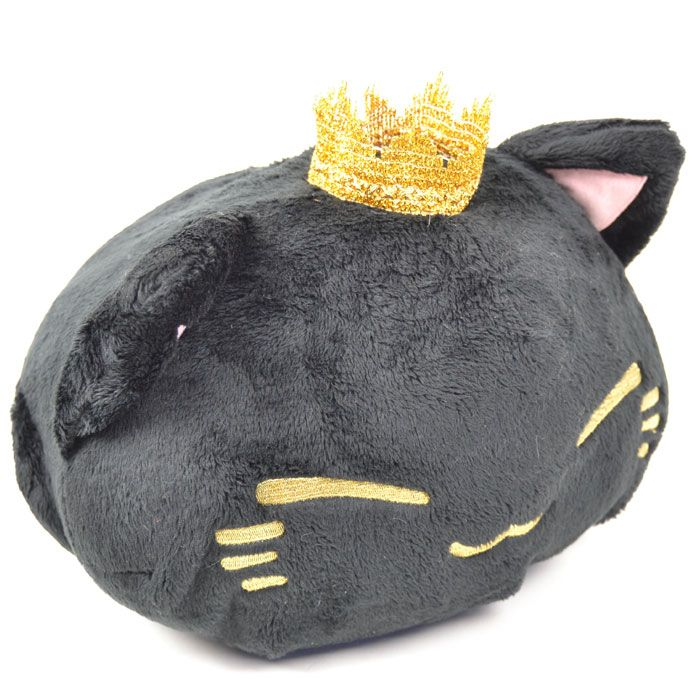 Nemuneko Crown musta pehmo (33cm)