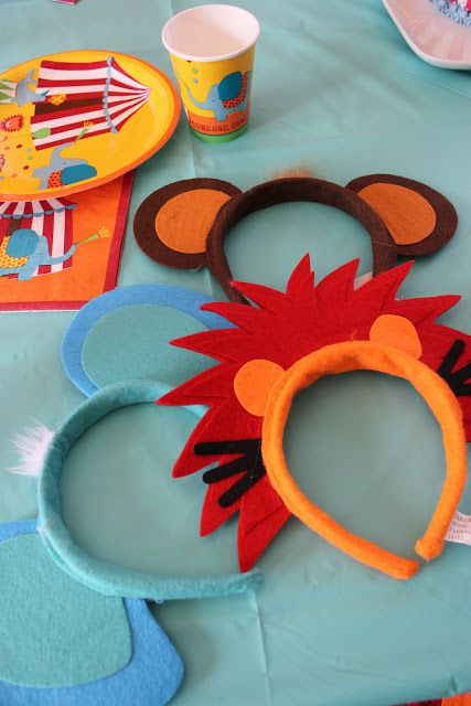 Diademas de animales hechas con fieltro para los peques de la casa. Headbands for the kiddies