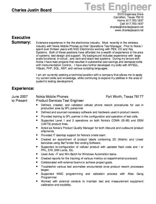 Test Engineer Resume Sample - http://resumesdesign.com/test-engineer-resume-sample/