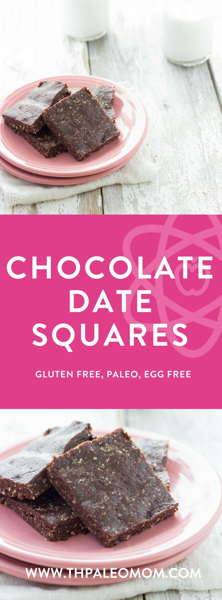 Chocolate Date Squares   The Paleo Mom