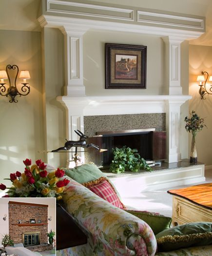 Houzz Brick Fireplace Remodels