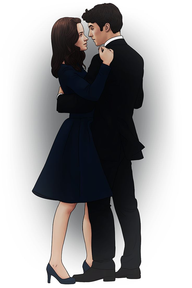 Rory and Jess Gilmore Girls #art #illustration