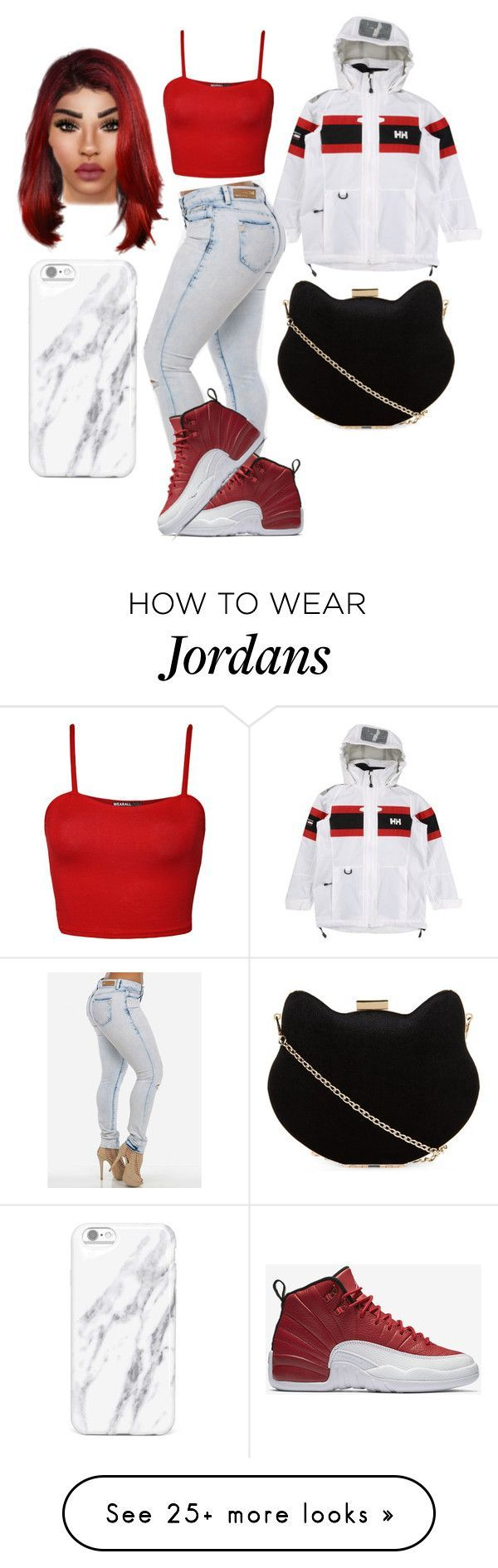 nike shoes All red back to school by x0yourstruly0x on Polyvore featuring WearAll, Helly Hansen, NIKE and New Look