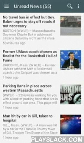 "Western MA News  Android App - playslack.com ,  Read the news for Western Massachusetts with this fast and easy to use app.Features:• Recent local news stories• Weather forecasts, radar maps, storm closings/delays, and power outages• Star stories to save for later• Share news articles to your social networks• Internal search• View original/full article's webpageCustomizations:• News sources (""Add/Remove Sources"" in left menu)• Themes (""Switch Theme"" in left menu)• Layouts (""Switch layout"" in…"