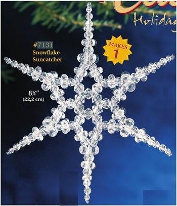 Snowflake Suncatcher Beaded Christmas Ornament Kit
