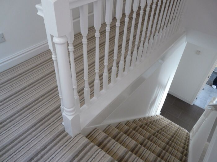 Stripey stair carpet