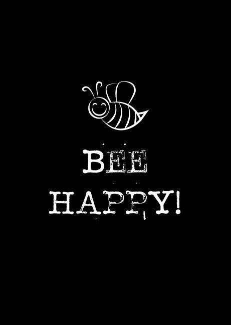 Kaartje Bee happy! Ontwerp: byBean. Je shopt hem hier: http://www.bybean.nl/kaartjebeehappy